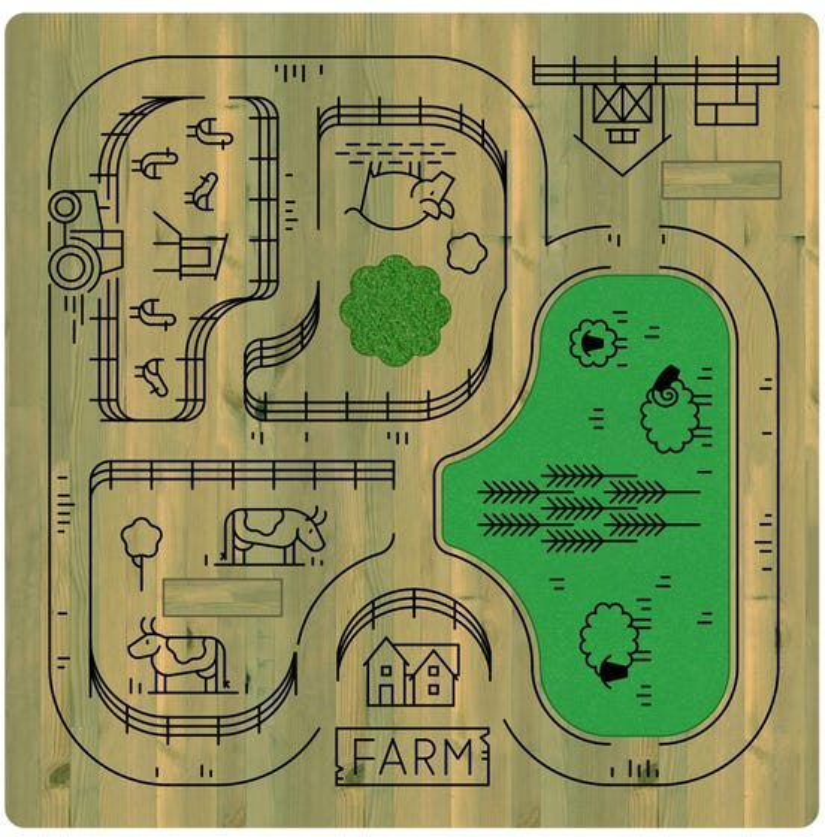 Farm Mini Micro World Table
