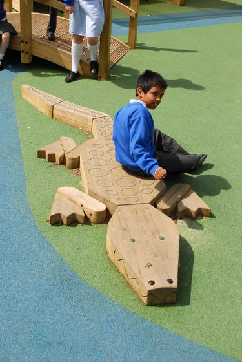 Crocodile Play Sculpture