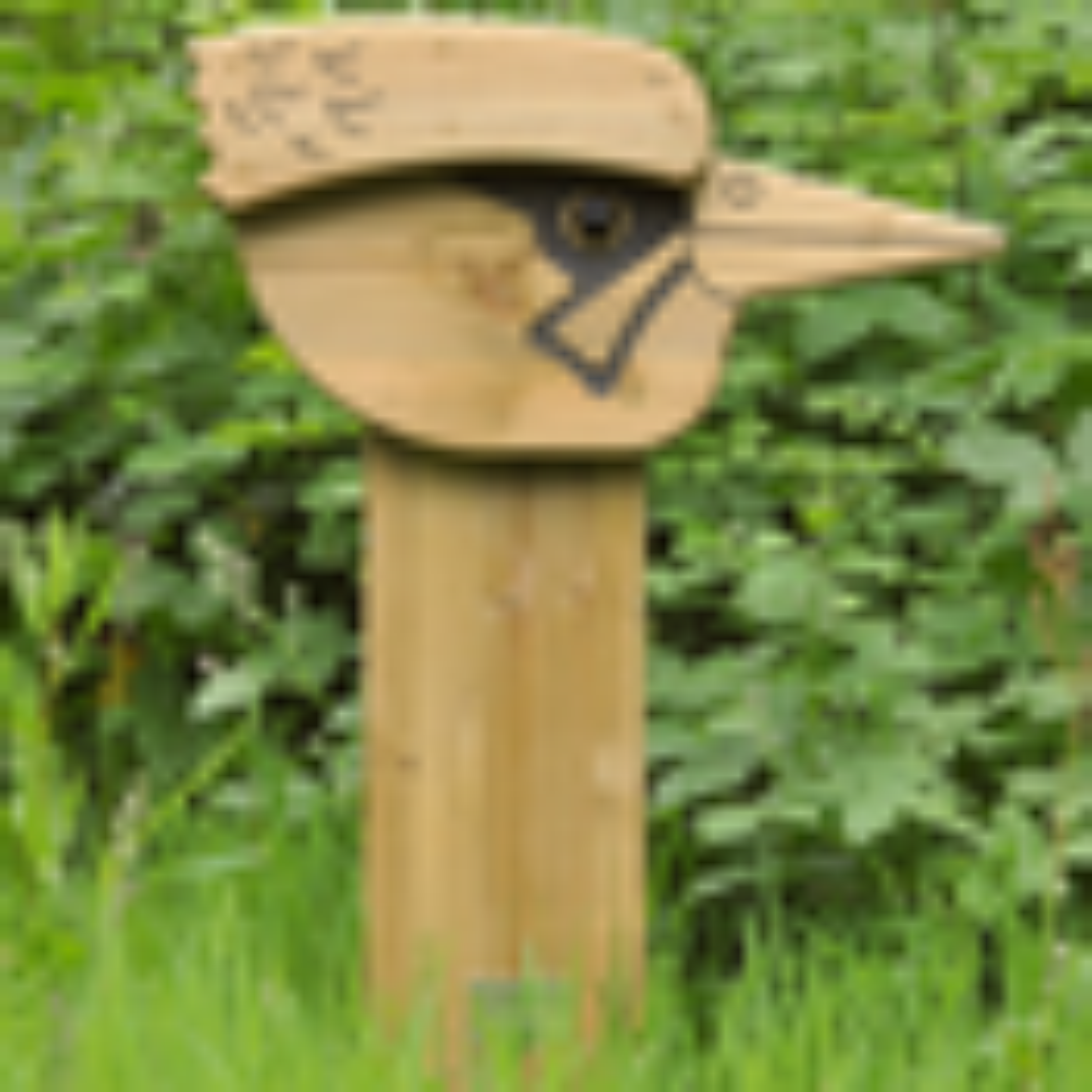 Woodpecker Animal Face Totem