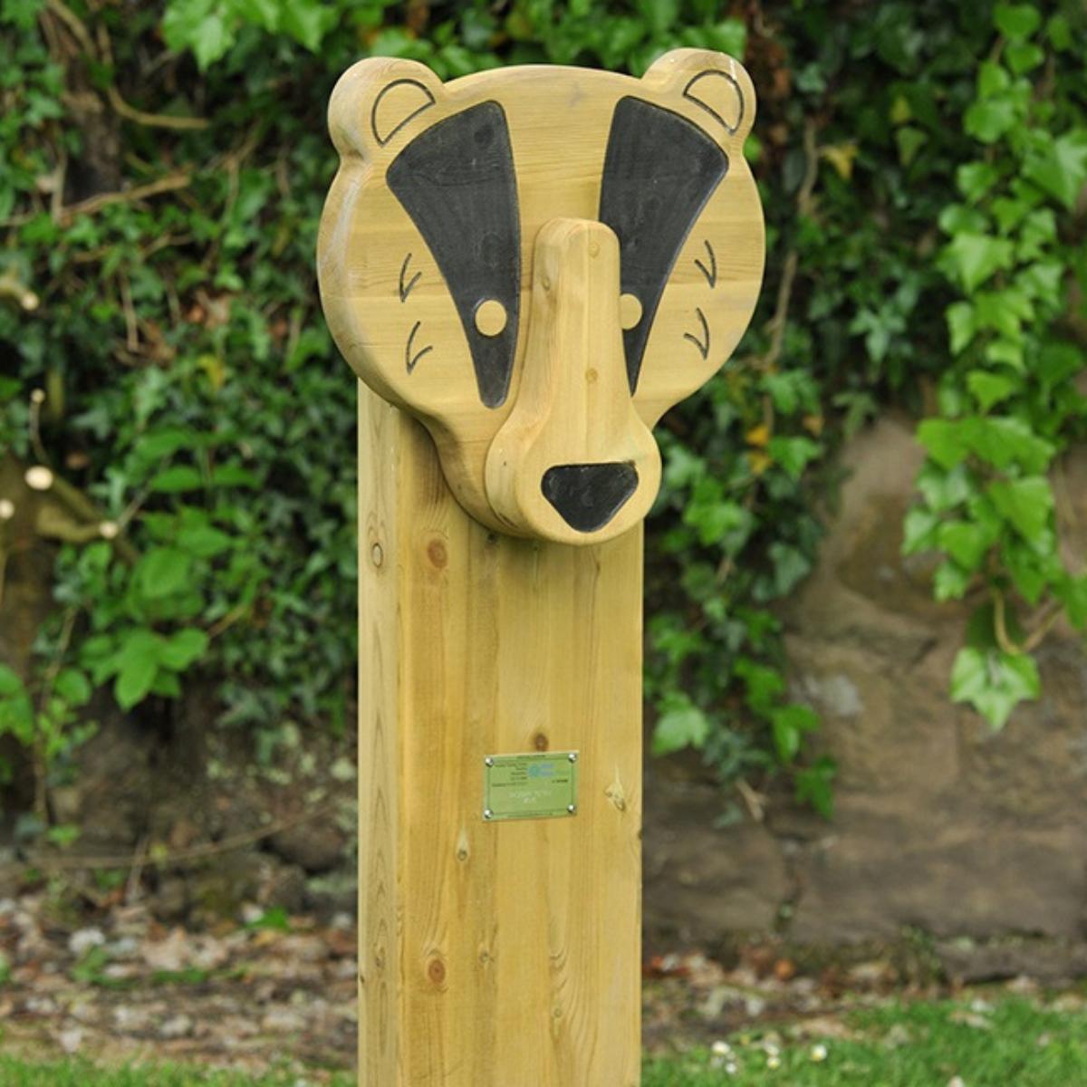 Badger Animal Face Totem