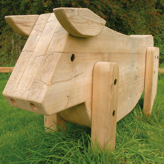 Cow Play Sculpture