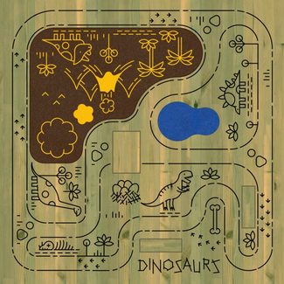 Dinosaurs Mini Micro World Table