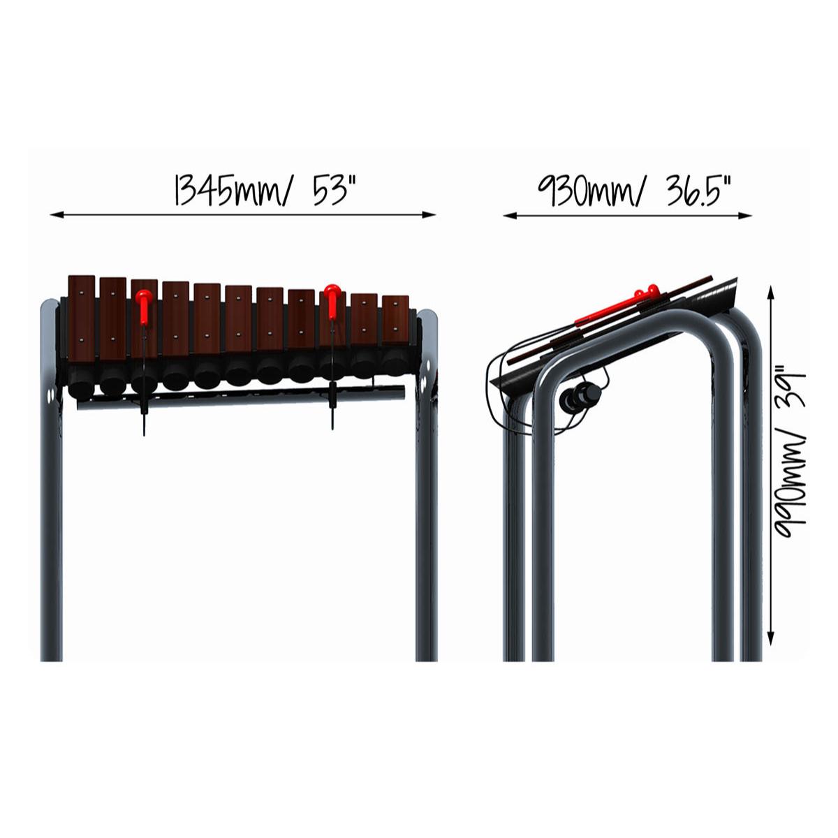 Grand Marimba Dimensions